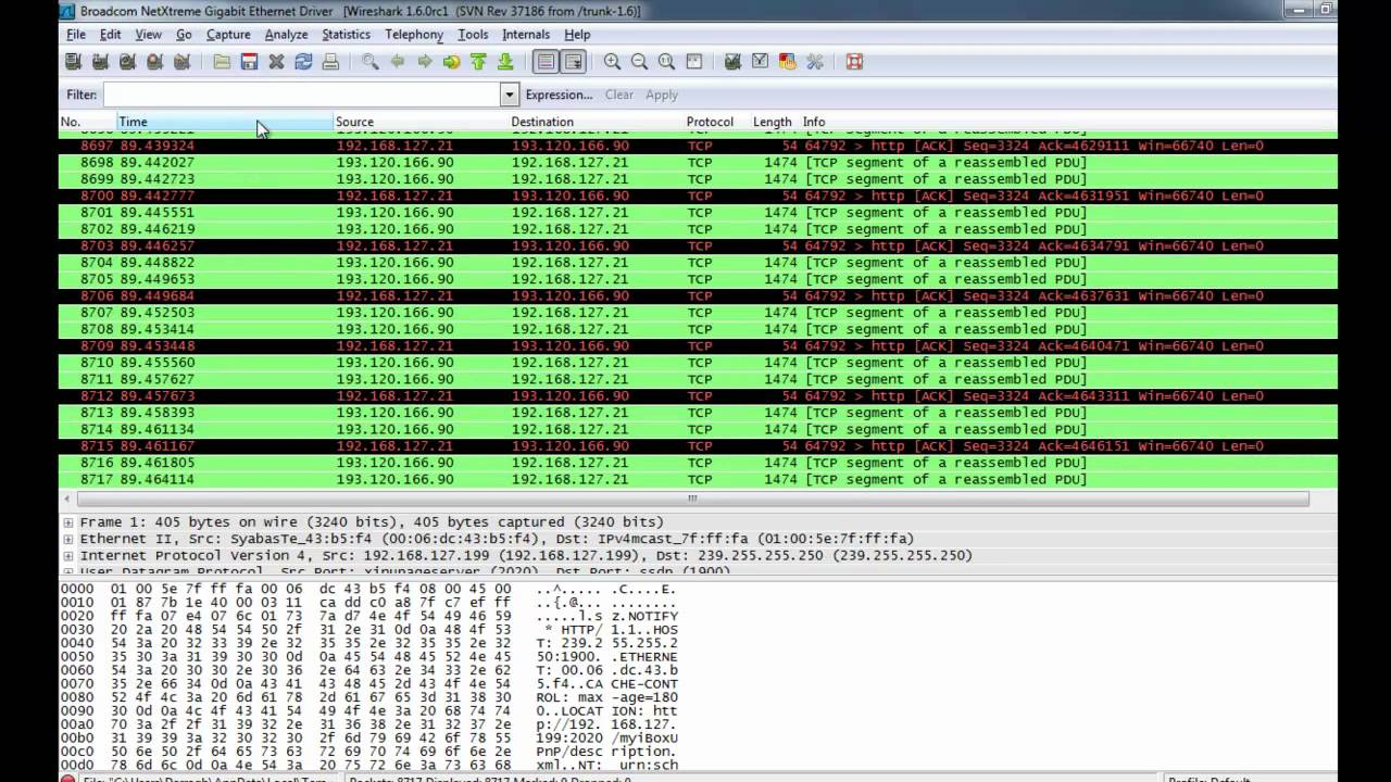 Processing PCAP files with Solarwinds Orion and the NetFort DPI engine