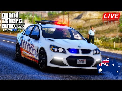 GTA 5 - LSPDFR Australia LIVE - NSW Highway Patrol HSV VF2 R8