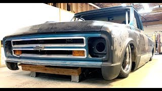 Blown and Body Dropped C10 Gets New Steering-Finnegan's Garage Ep 85