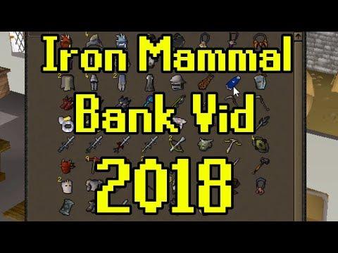 OSRS - Iron Man Bank Video (Iron Mammal) + Maxing?