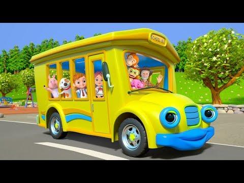 Wheels On The Bus | Kindergarten Nursery Rhymes For Kids | Cartoons For Children | Little Treehouse