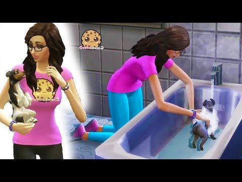 Muddy Dogs Bath Time in Strangerville - Cookie Swirl C Sims 4 Adventure Video Game Let's Play