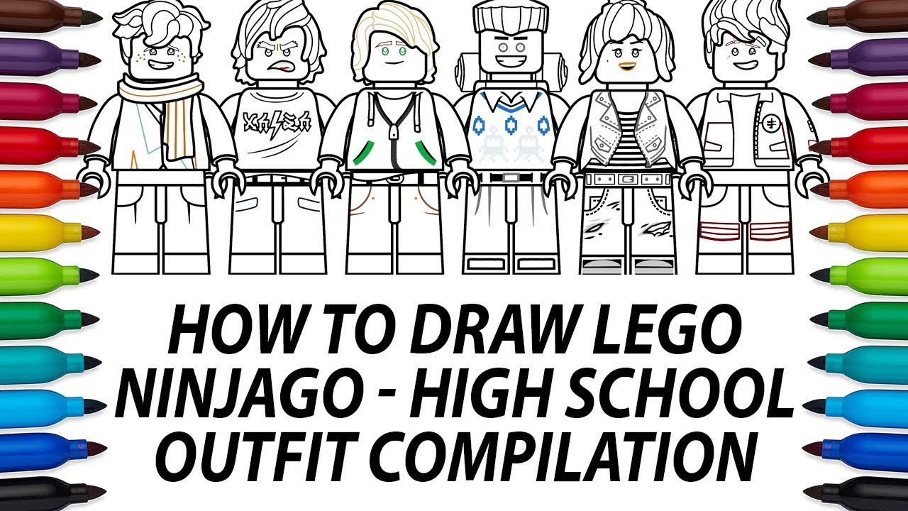 How To Draw Lego Ninjago Movie Minifigures High School Outfit