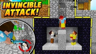 INVINCIBLE HIT BOX TRAP! - Minecraft SKYWARS TROLLING (CANT BE KILLED!)