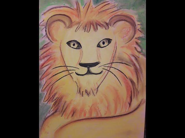 Elke malt - Löwenmotiv für Kinder