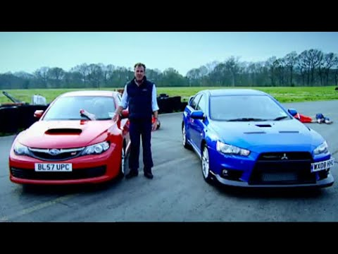 Mitsubishi Evo vs. Subaru Impreza (HQ) | Top Gear | BBC