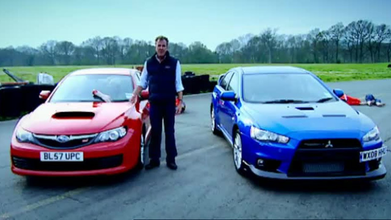 top gear lancer evolution lamborghini