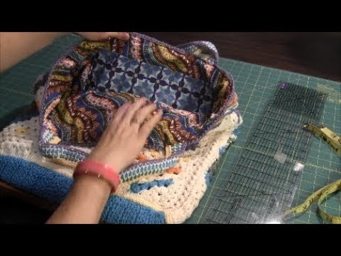 How To Make A Fabric Lining For A Crochet Bag Tutorial Youtube