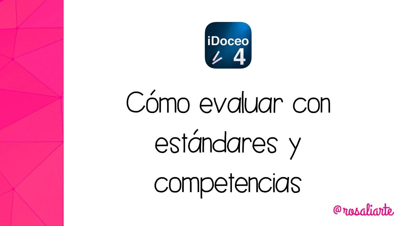 iDoceo 4.5 - Cómo evaluar con estándares y competencias