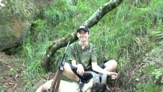 Ryans first Billy goat with his sako 222 shot at 120 metre's
