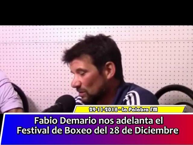 Fabio Demario nos adelanta el Festival de Boxeo