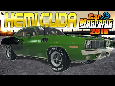 Plymouth Hemi Cuda Restoration! - Car Mechanic Simulator 2018 Gameplay - Livestream