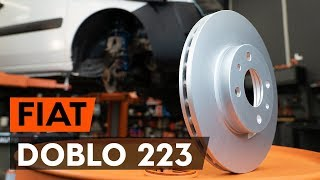 How to replace Brake rotors FIAT DOBLO Cargo (223) Tutorial
