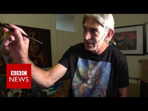 The man who can't stop painting - BBC News