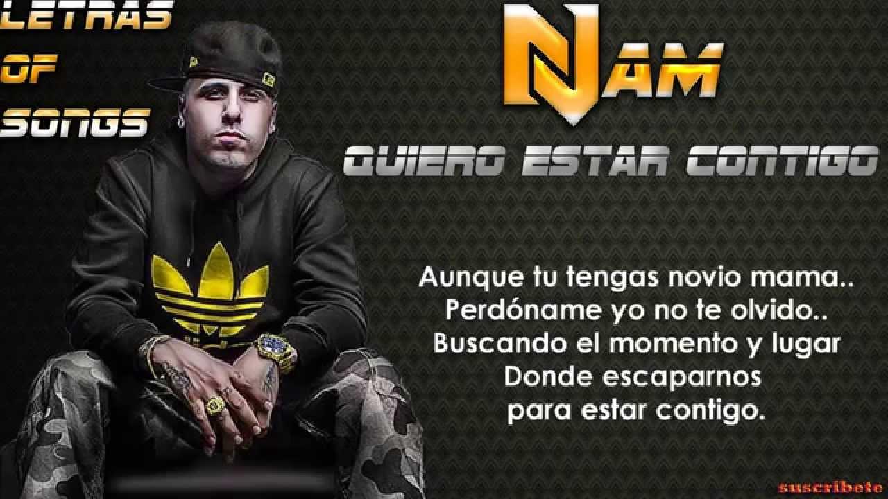 Quiero Estar Contigo Nicky Jam Letra 2015 Youtube