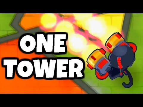 How Long Can You Survive With 1 Tower? (Bloons TD 6)
