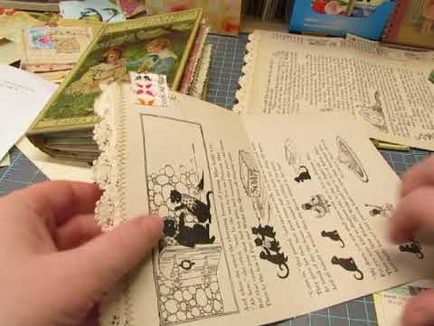 Bobbsey Twins Journals: Process Video : decorating a book page