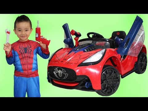 Thumbnail: Unboxing New Spiderman Battery-Powered Ride On Super Car 6V Test Drive Park Playtime Fun Ckn Toys