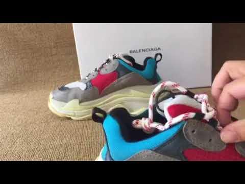 Balenciaga sneaker triple S grey red blue authentic (mksole.cn)