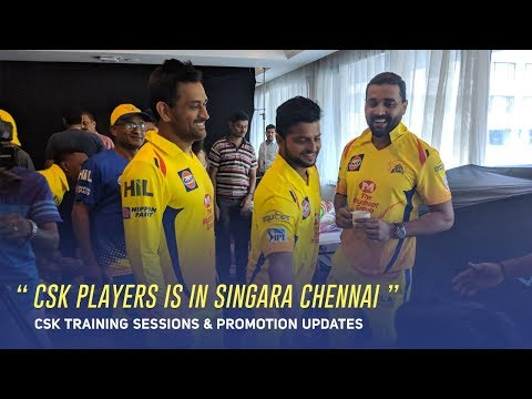 Csk Players Is In Singara Chennai  Csk Training Sessions