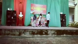 Học sinh THPT Bình Sơn nhảy shuffle dance cực đỉnh