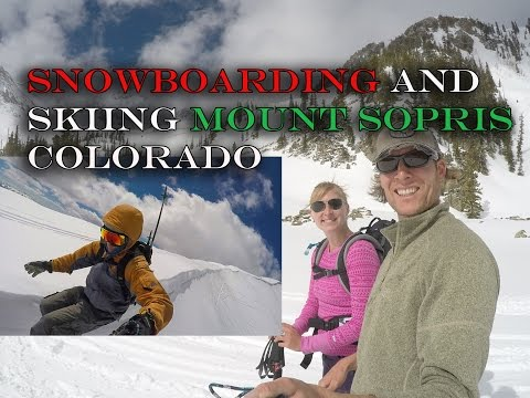 Mount Sopris April 2017 Snowboard Ski Summit Cornice Drop Dry Land Skiing