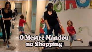 Brincadeira O Mestre Mandou no Shopping Dany Cadu e Caio