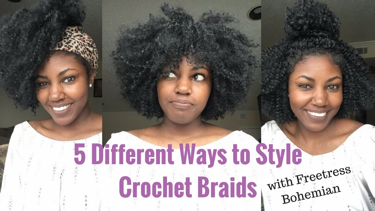different ways to style braided hair 5 different ways to style crochet braids with no leave out 5455