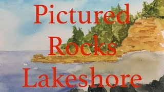 How to Paint a Seascape in Watercolour Pictured Rocks National Lakeshore Watercolor Tutorial