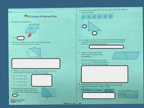 6th Grade Go Math Chapter 10 Math Test Review