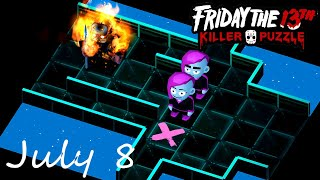 Friday the 13th Killer Puzzle Daily Death July 8 2020 Walkthrough