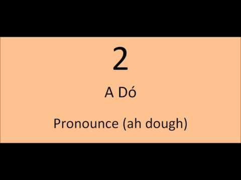 Learning Irish: Counting from 1 - 10