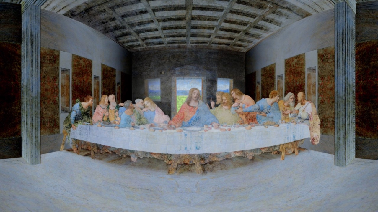 Leonardo Da Vinci Last Supper Vr 360 Youtube