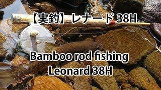 【実釣】バンブーロッド#1 レナード38H Bamboo rod fishing #1 Leonard 38H