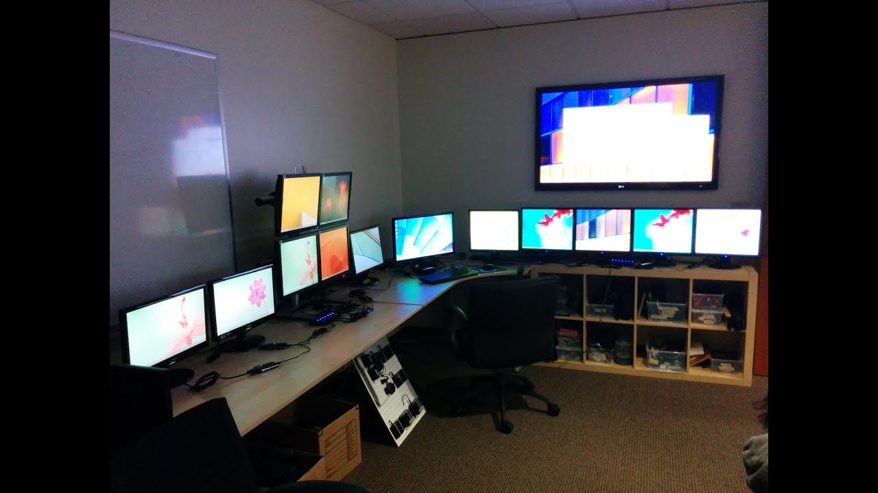 14 Monitors On A Single Windows 8 Pc With Usb Graphics