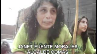 JANET FUENTES MORALES candidata por fuerza social recorrió el distrito de comas