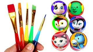 Sheriff Callie's Wild West Painting Learn Colors with Callie Deputy Peck Sparky Surprise Toys