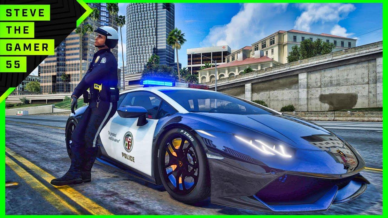 GTA 5 Mod Supercars Sunday Patrol| Huracan Police| GTA 5 Lspdfr Mod| 4K