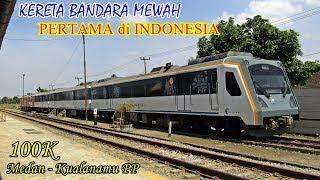 Video KERETA BANDARA TERMEWAH dan PERTAMA yang Ada di Indonesia. Trip Kereta Api ARS Kualanamu-Medan download MP3, 3GP, MP4, WEBM, AVI, FLV Juli 2018