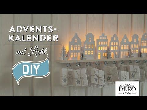 DIY: Adventskalender basteln mit beleuchteten Häuschen - How-to | Deko Kitchen