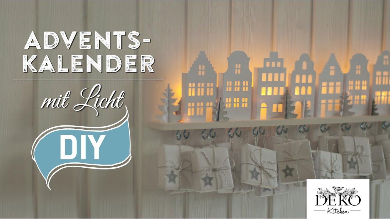 DIY: Adventskalender basteln mit beleuchteten Häuschen - How-to