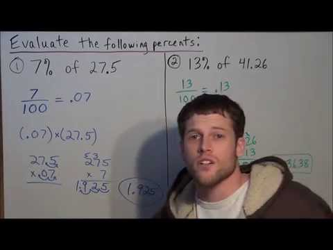 Finding Percents Without Calculator