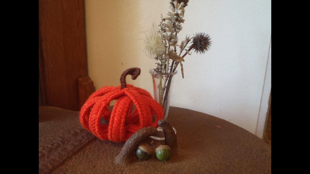 plastic canvas pumpkin - youtube