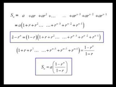 Geometric Series - Proof of the Formula for the Sum of the First N Terms