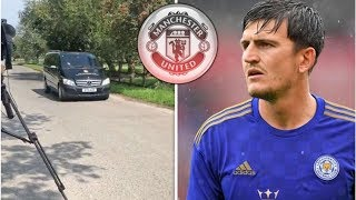Harry Maguire arrives at Man Utd for medical after transfer fee agreed with Leicester- transfer n...