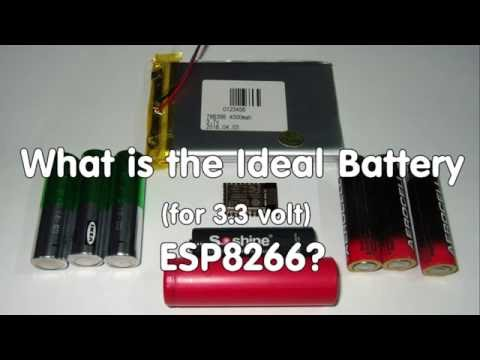 #64 What is the Ideal Battery Technology to Power 3.3V Devices like the ESP8266?
