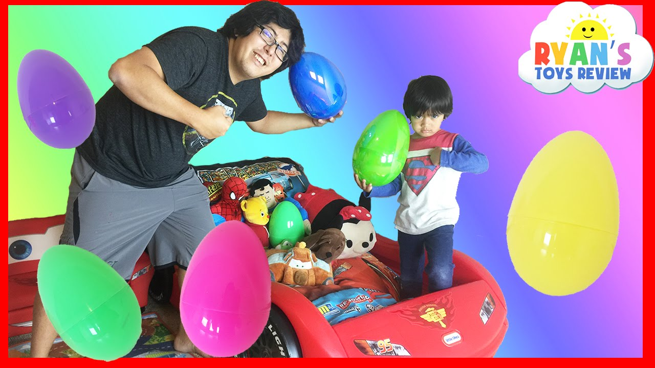 Easter Eggs Surprise Toys Challenge With Disney Cars Toys