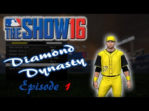 MLB 16: The Show - Diamond Dynasty - Episode 1 (Creating the Team!) MLB 16 PS4 Gameplay