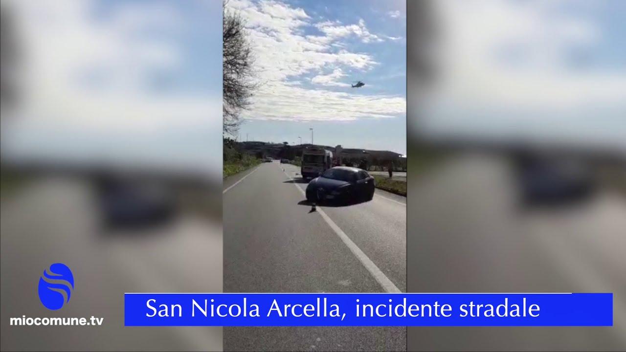 San Nicola Arcella: incidente con due feriti sulla statale 18 - VIDEO