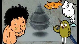 Easy 3D Art & Trick Art Drawing -  Water drop
